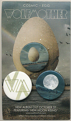 Wolfmother Cosmic Egg RARE promo button set '09