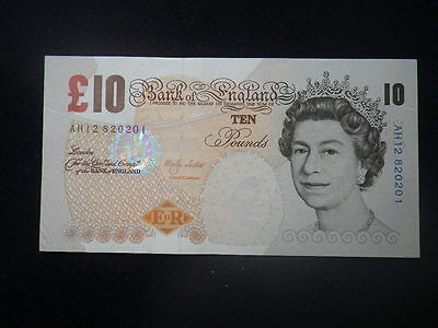 Great Britain 10 Pound Banknote (EF) Lowther   AH12 820201          ...B94