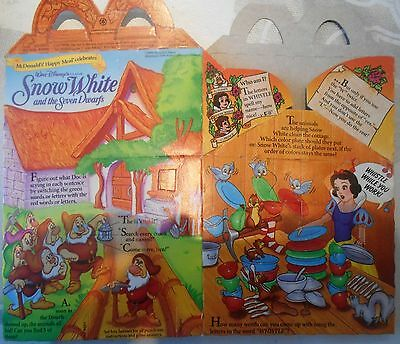 McDonald Happy Meal Box, McDonalds Verpackung Snow White B UNBENUTZT 1992