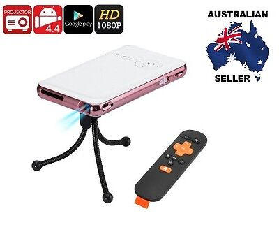 Android Mini Projector - DLP Technology, 1080p Support, 150 Lumen, HDMI IN