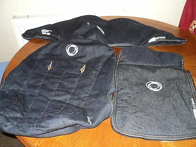 3 PIECES BUGABOO CAMELEON FABRICS/COVERS DENIM 007 hood/Canopy,Apron,Seat Line