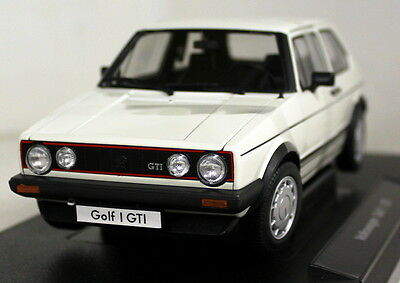 Nex 1/18 Scale - 18039W Volkswagen VW Golf Mk1 GTi White Diecast model Car