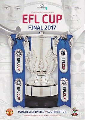 Man Utd Southampton Efl League Cup Final 2017 Mint Programme Manchester United