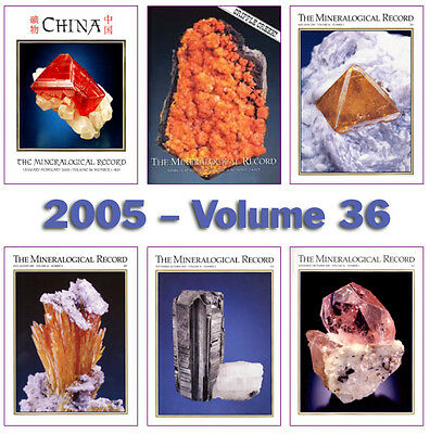 Mineralogical Record 2005 Volume 36  (Number ONE thru SIX) - Pristine