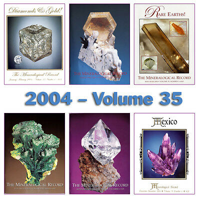 Mineralogical Record 2004 Volume 35  (Number ONE thru SIX) - Pristine