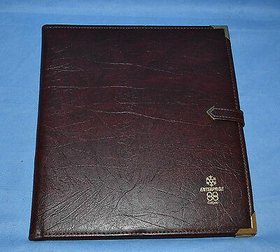 Vtg Planner Organizer Calgary Winter Olympic Games 1988 Faux Leather Bordeaux