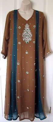 Pakistani Indian MAXI DRESS Salwar Shalwar Kameez Wedding  Eid Party Wear