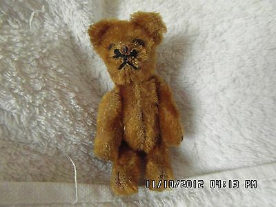 """Old Grumpy Rare Early 1920s Brown 3.5"""" metal eyes Gorgeous Schuco bear."""
