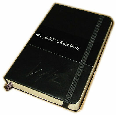 KYLIE MINOGUE Body Language UK promo-only embossed Moleskine Notebook rare!
