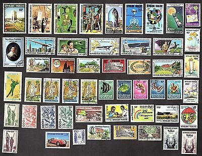 50 All Different  TOGO  STAMPS