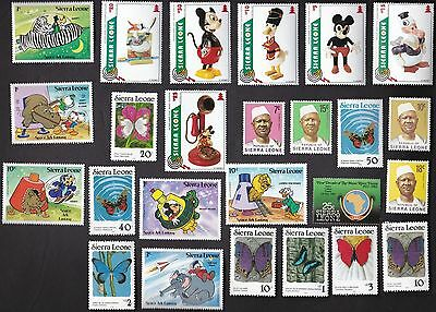 25 All Different  SIERRE LEONE MINT NH STAMPS