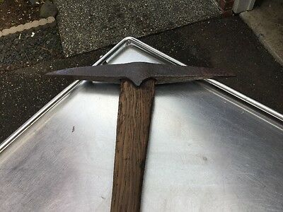 "Antique 1800's Vtg Miners 14"" Pick Axe Head Prospector Miner Mining Cabin Decor"