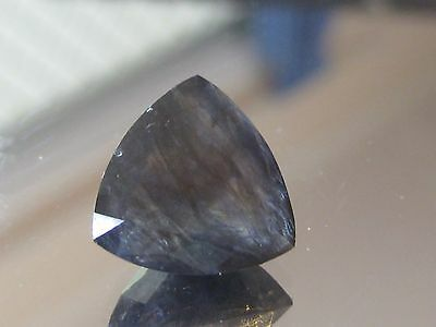 Iolite, 7.6 ct Beautiful large Trillion cut Natural Australian purple Iolite gem