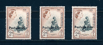 Swaziland 1961 Postage Dues D10/12  Mnh