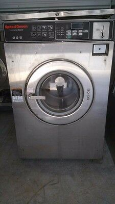 Speed Queen 27lb coin op Hard mount washer, Used