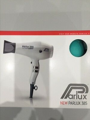 Parlux 385 Ionic & Ceramic Professional Hair Dryer Aqua Brand New Never Used