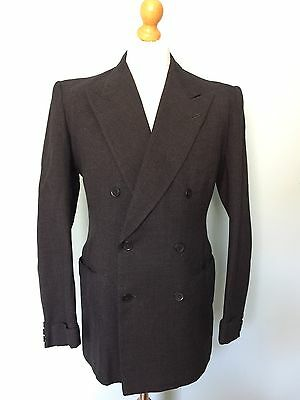 Vintage Bespoke Grey Mohair Three 3 Piece 1930's 1950's Suit Size 38