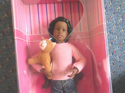 RARE Only Hearts Club Doll ~ KAYLA RAE AFRICAN AMERICAN AA DOLL WITH CAT NIB