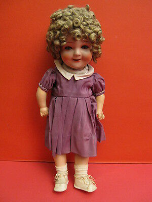 All Original Carl Bergner Shirley Temple Composition Doll Germany 1938