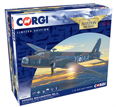"Corgi 1:72nd Scale Vickers Wellington 1C ""Y for Yorker"" Diecast Model."