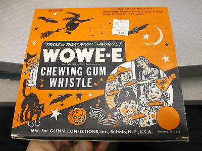 Glenn 1960s WOWE-E halloween wax candy chewing gum whistle store display FULL #3