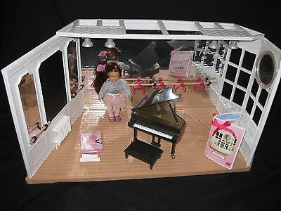 """LORI by OG Our Generation Mini DOLL, DANCE STUDIO, PIANO fits 6"""" American Girl"""