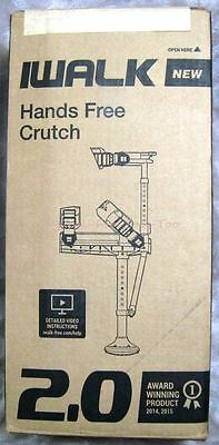 iWALK 2.0 Hands Free Crutch Original Box, Owner Instruction Manual USED INSIDE