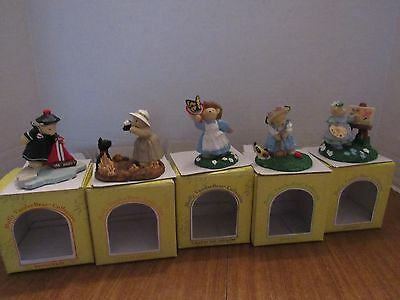 Muffy Vanderbear Lot Of 5 Resin Figurines High Tea ,Cruise Wear, Out Of Africa