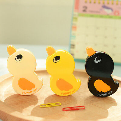 Kids Stationery Cute Duck Decoration Sticker Tape Pen Roller Correction Tape Pop
