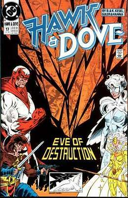 Hawk and Dove (1989 series) #17 in Very Fine - condition. FREE bag/board