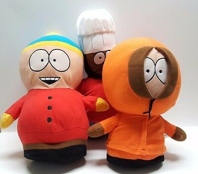 Comedy Central South Park TV Show Plush Dolls Kenny Cartman Chef 14""