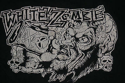 """White Zombie Rare! Xl 1993 Tour Shirt Dual Sided """"let's Just Killeverybody"""" Htf"""