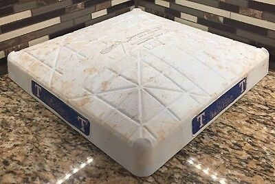 Texas Rangers / YU DARVISH 2014 Game Used 3rd Base!! MLB Authenticated 9 Innings