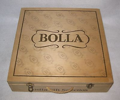 Vintage Bolla Wood Wine Box with Locking Clasps and Rope Handle - NO WINE