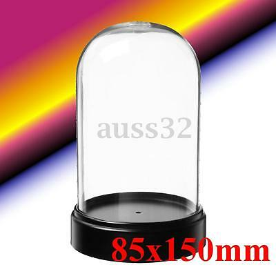 "Clear Acrylic Box Bell for Product Show Display Case Toys Dustproof 3.3""x6"""