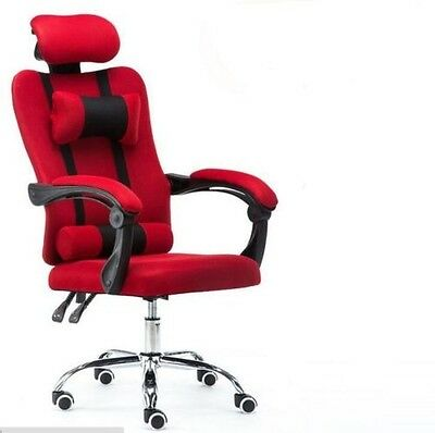 Office Chair Recliner Computer Executive  Tiltable Swivel High Back Footrest
