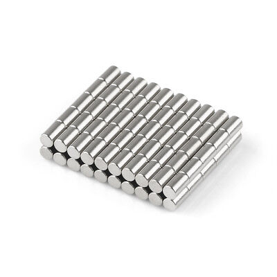 100x Strong Round Cylinder Magnets 3 mm x 5 mm Rare Earth Neodymium 1/8'' x 1/5""