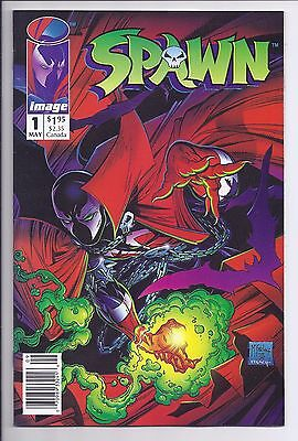 Spawn # 1 NM- Newsstand Edition with Poster 1992 Todd McFarlane HTF Hard to Find