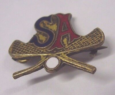 Vintage South Australia Lacrosse Association Badge Pin , Pitcher