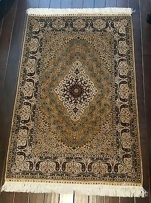 Heirloom-Quality Turkish Hereke Hand-Knotted All Silk Carpet