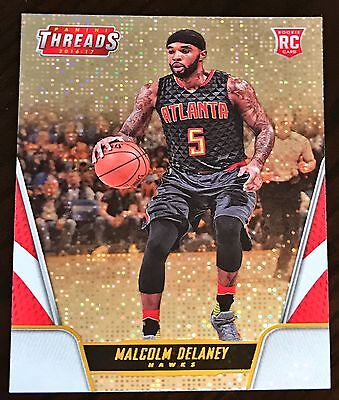 2016/17 Panini Threads Malcolm Delaney Rc Rookie Dazzle Parallel SP Hawks