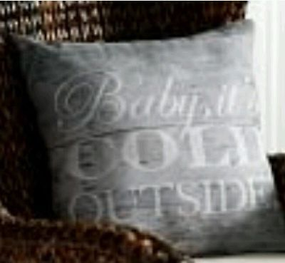 Pottery Barn Baby Its Cold Outside!  Indoor / Outdoor Pillow  New