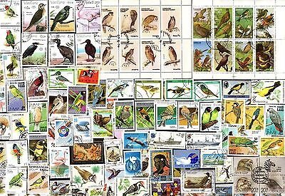 200 All Different  BIRDS ON  STAMPS