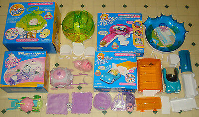 ~~Boxed Zhu Zhu Pets LOT Princess Carriage Hamstermobile Fun House Carry Hotel~