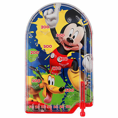 Disney Mickey Mouse and Pluto Handheld Pinball Game Travel Toy