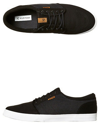 New Kustom Men's Remark 2 Shoe Lace Canvas Black