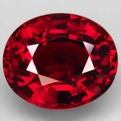 5.11ct.FANTASTIC! 100%NATURAL TOP RED SPESSARTITE GARNET UNHEATED AAA HUGE!
