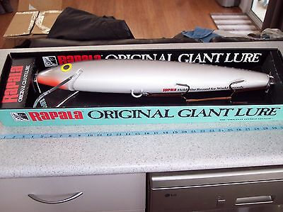 RAPALA GIANT LURE SILVER & BLACK as new, suit man cave, pool room.