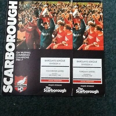 Scarborough First Season In League Colchester/torquay 87/88