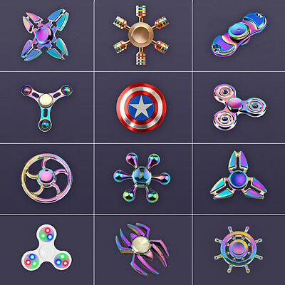 High Quality Metal Fidget Hand Finger Spinner Toy - Rainbow EDC Stress Reducer
